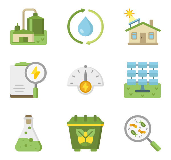 Renewable energy png. Icons free vector