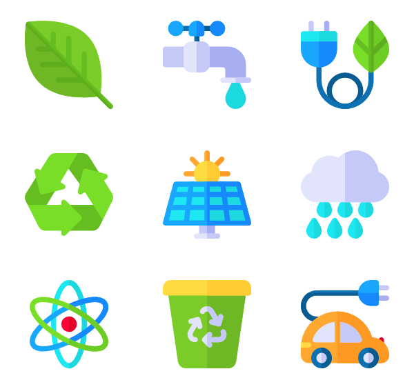 Renewable energy png. Icon packs vector
