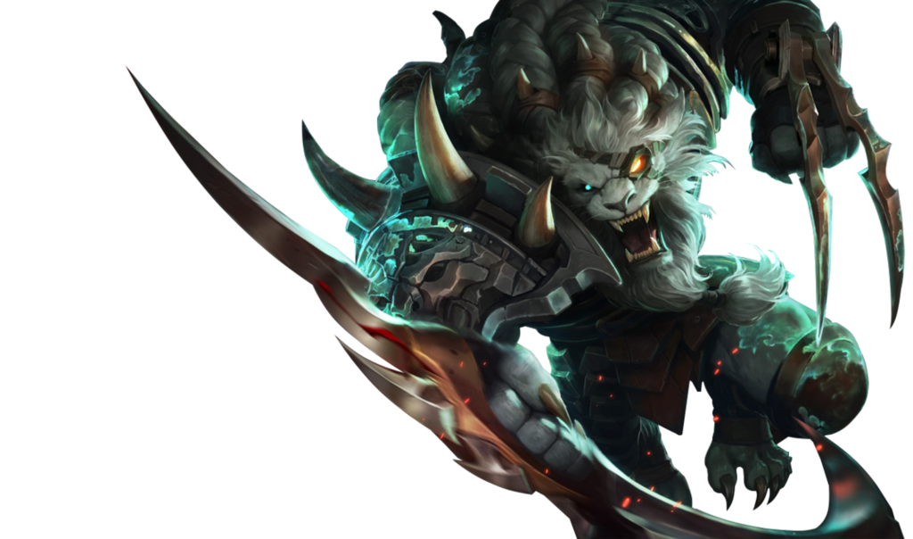 Rengar drawing weapon. League of legends by