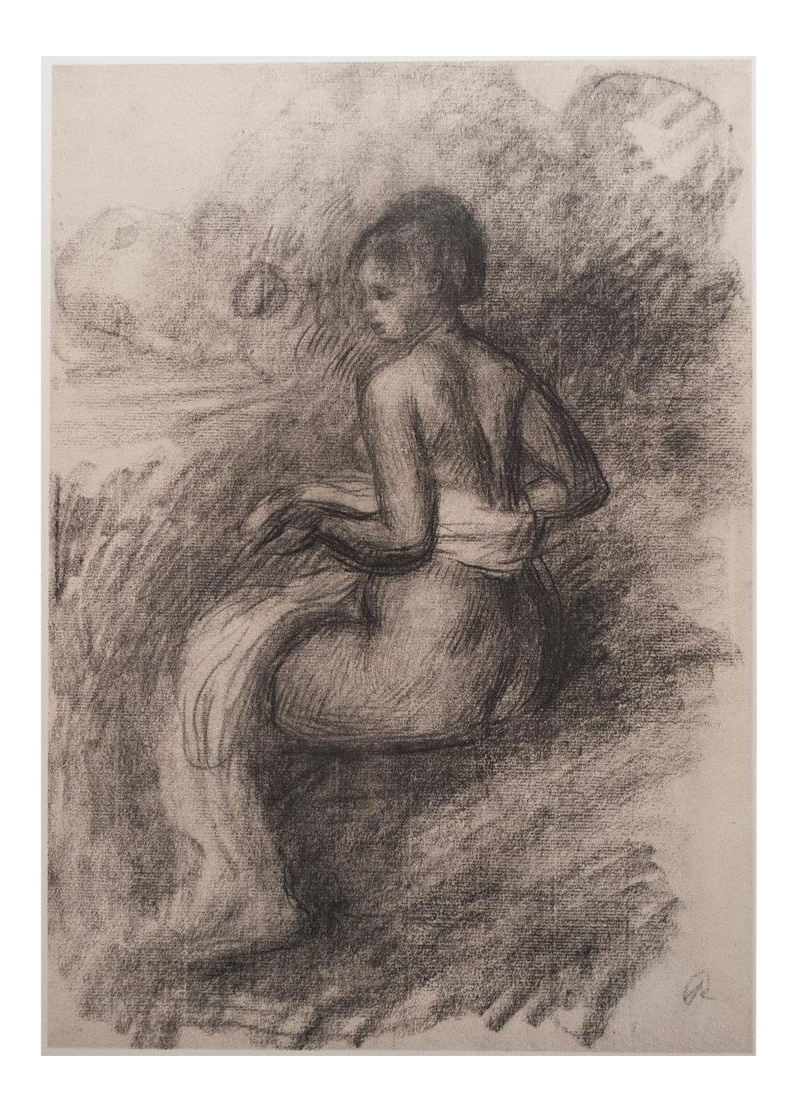 Renoir drawing. After the bath large