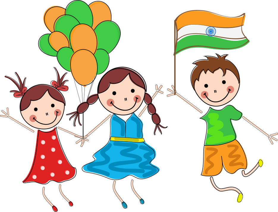 Independence drawing student. Indian day child republic