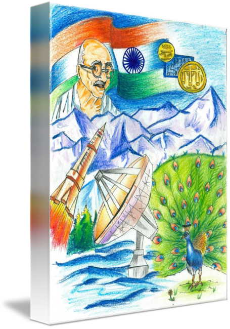 Republic drawing incredible india. By tanmay singh