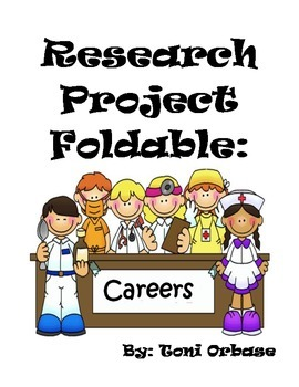 Research clipart research project. Foldable careers by toni