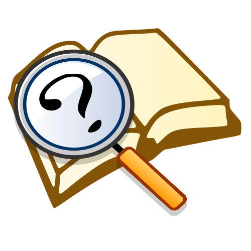 Research vector animation. Question clip art