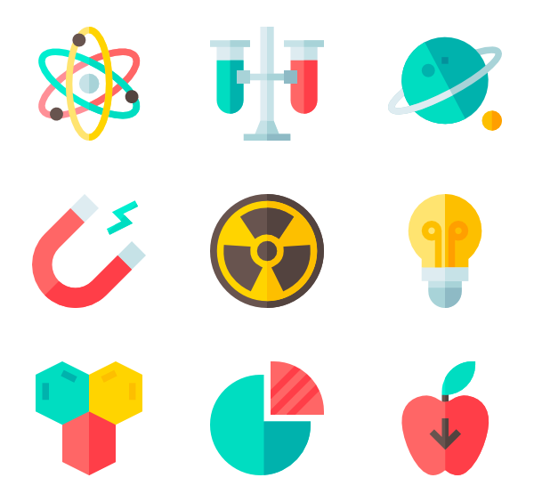 Research vector background. Physics icons free
