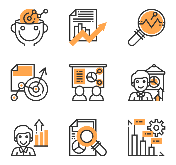 And analysis icons free. Research vector art banner transparent