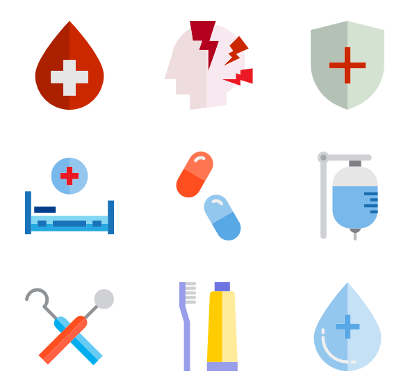 Research vector web. Icons free health care