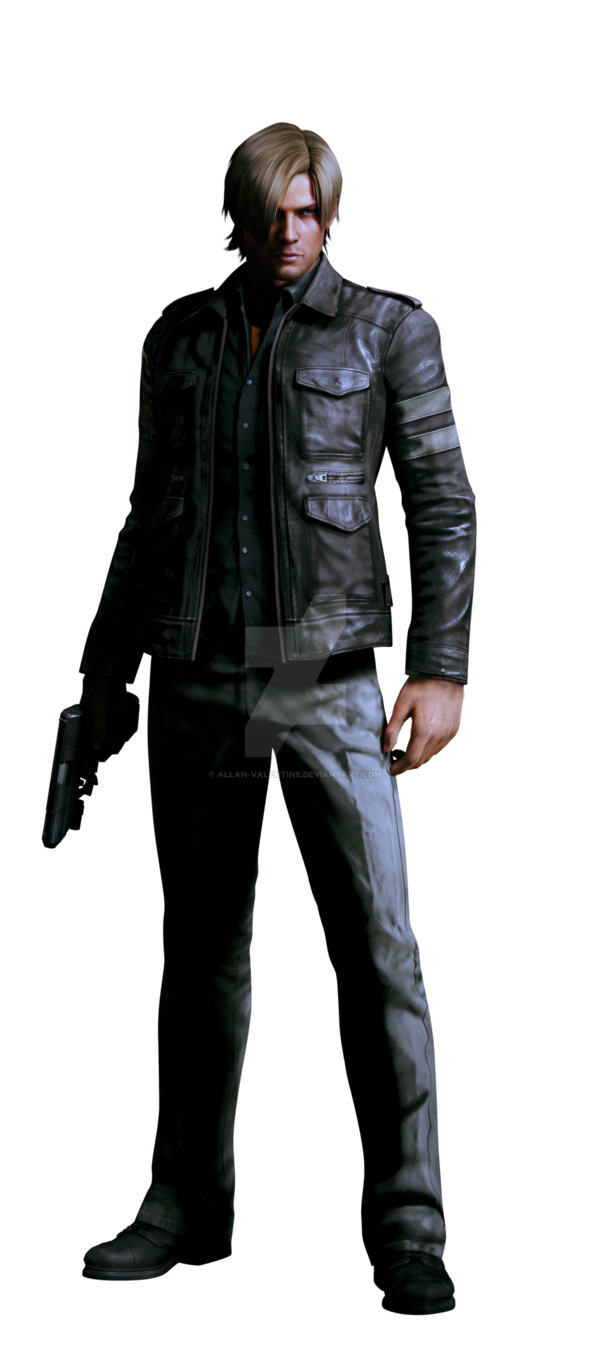 Resident evil 6 leon png. Professional render by allan