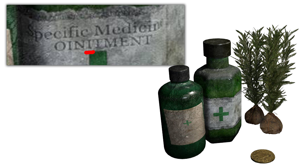 Resident evil herb png. So they misspelled ointment