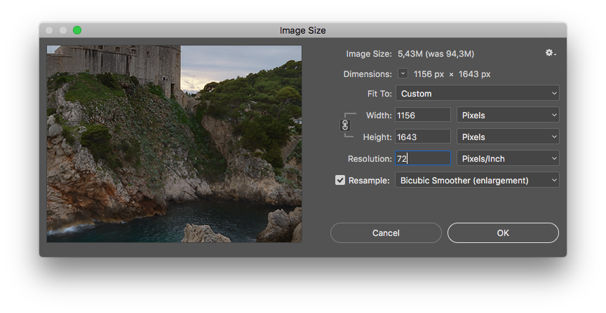 Resize png photoshop. How to sharpen and