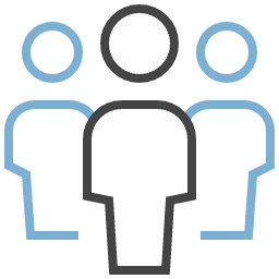 3 people png. Three clipart icon unc