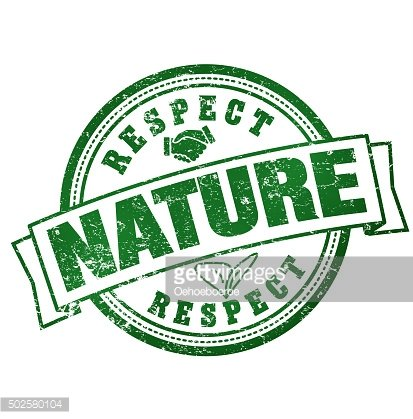 Respect for Nature. Badge with text clipart