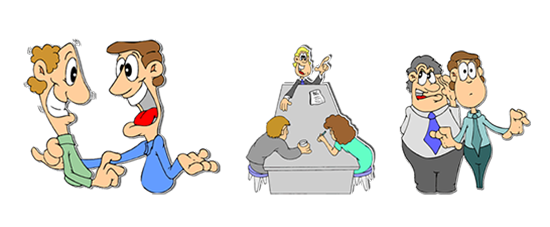Responsibility clipart scenario. E learning characters their