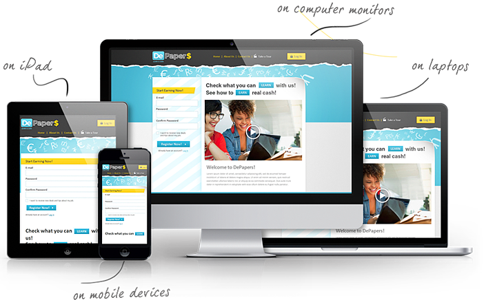 Responsive website png. Psd to template