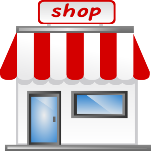 storefront vector mall shop
