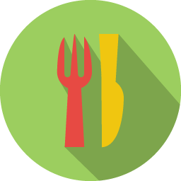 Restaurant icon png. Colorful long shadow iconset