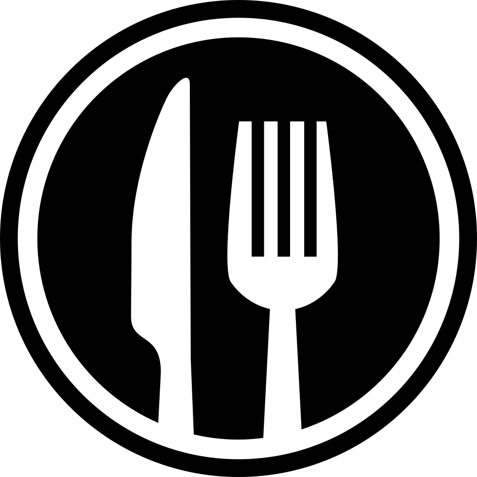 Restaurant icon png. Fork and knife cutlery