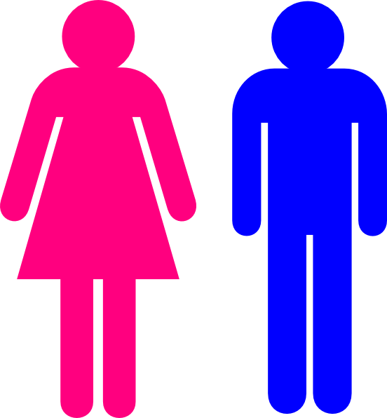 Restroom clipart student. Symbol male and female