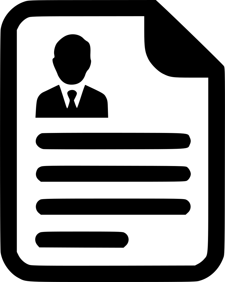 Print vector cv icon. Contract agreement resume paper