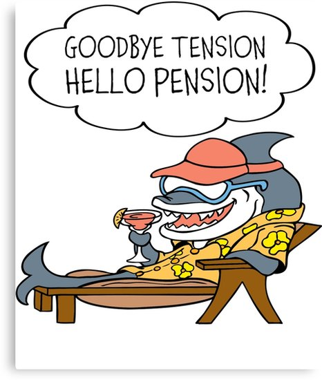 Retirement clipart goodbye. Tension hello pension funny