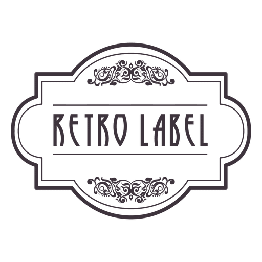 Retro badge png. Ornament transparent svg vector
