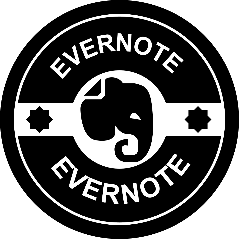 Retro badge png. Evernote svg icon free