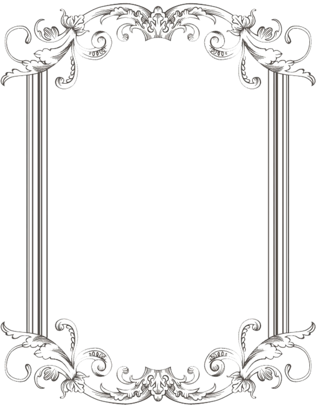 Marcos vintage png. Custom frame one by
