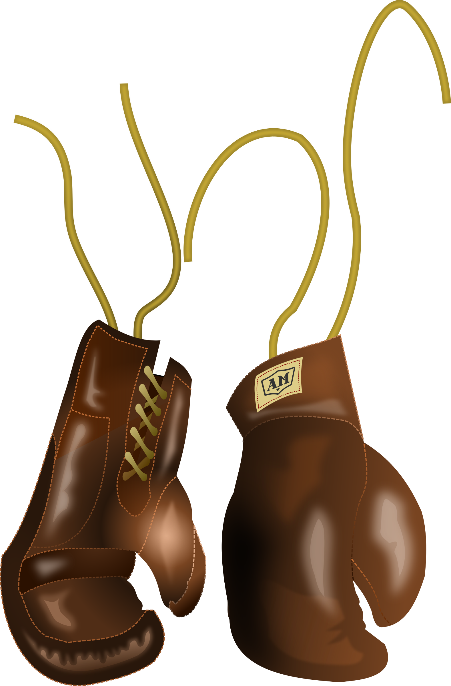 Retro clipart boxing. Vintage leather gloves by