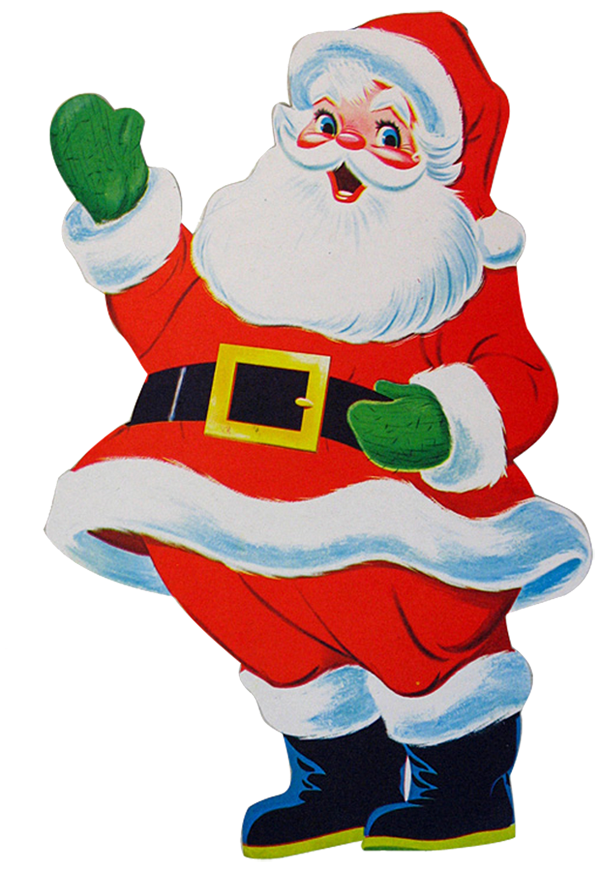 Vector santa retro. Free graphics download clip