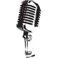 Transparent mic old school. Download microphone category png