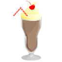 Chocolate food icon. Retro milkshake png picture freeuse library