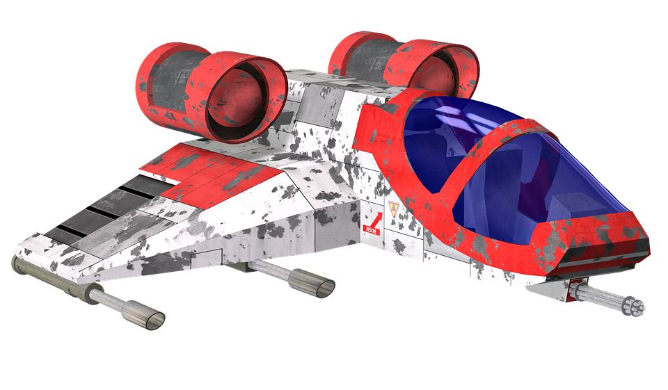 Retro spaceship png. Free photo fly space