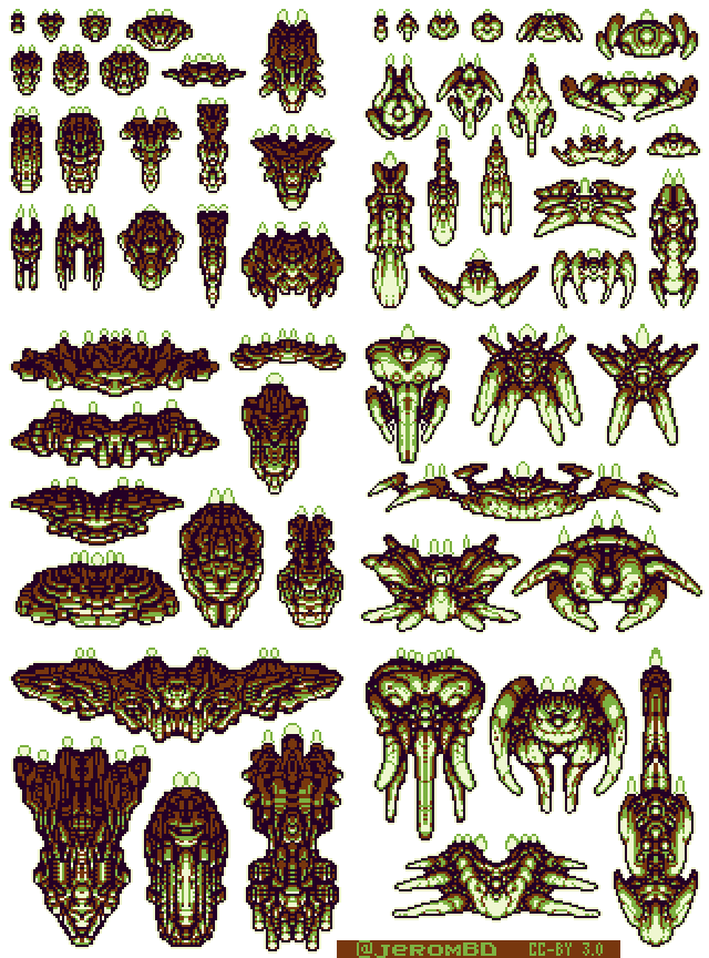Retro spaceship png. Spaceships opengameart org preview