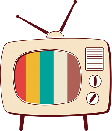 Retro sticker png. Tv decorative wall tenstickers