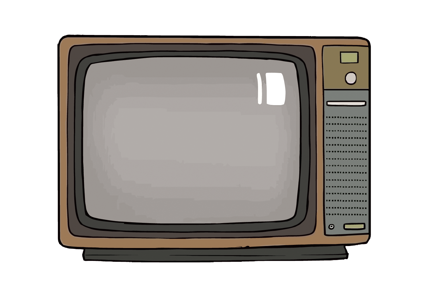 Television set png. High definition retro tv