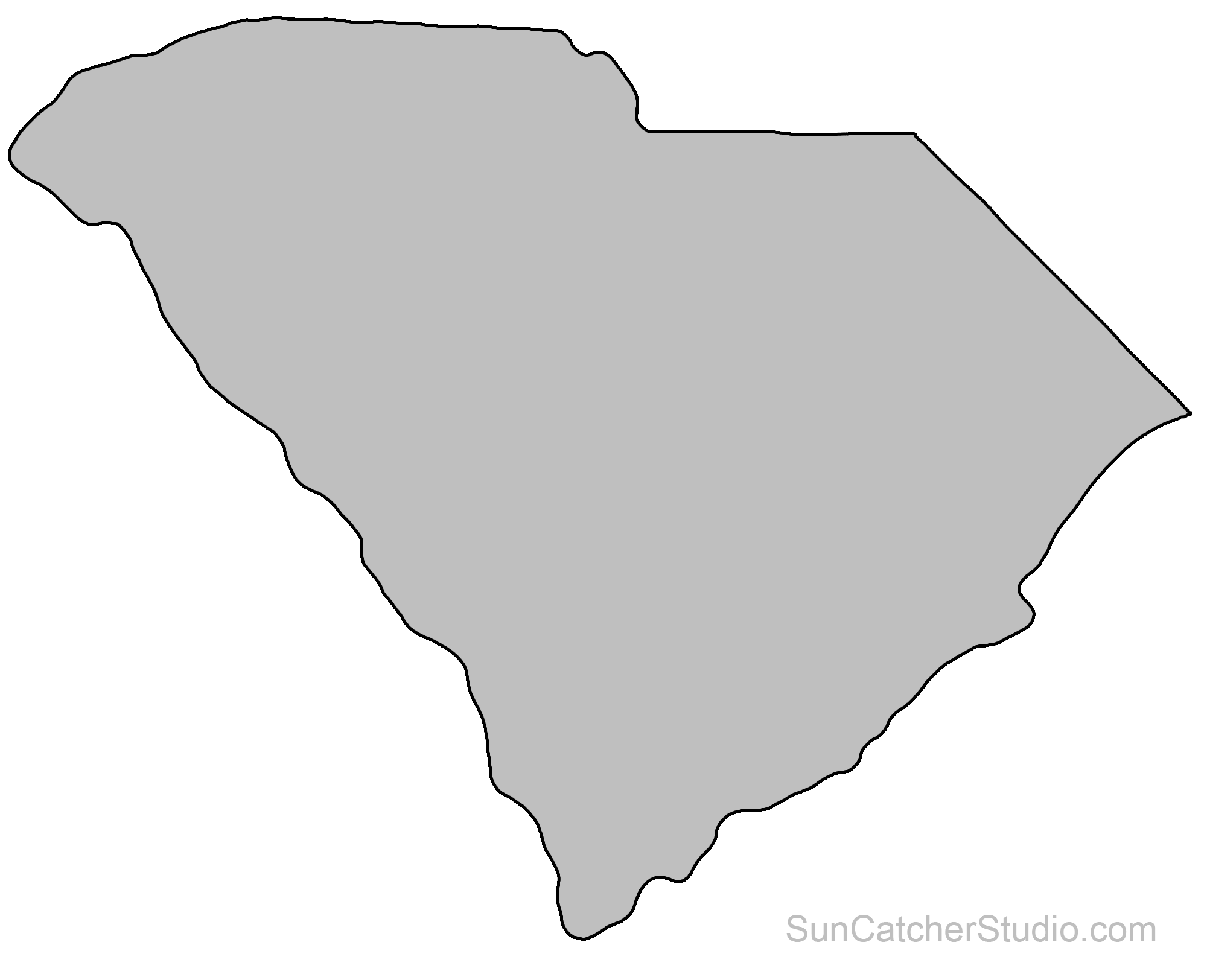 Reverse clip woodworking. South carolina map outline