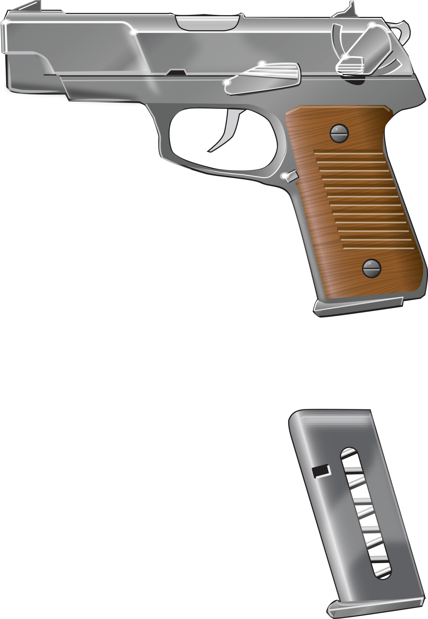 Revolver gun pointing png. Animation parts of a