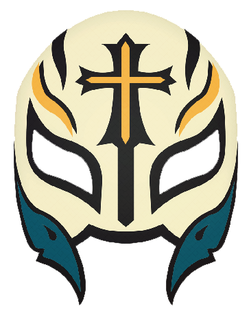 Rey mysterio mask png. Wwe design by universe