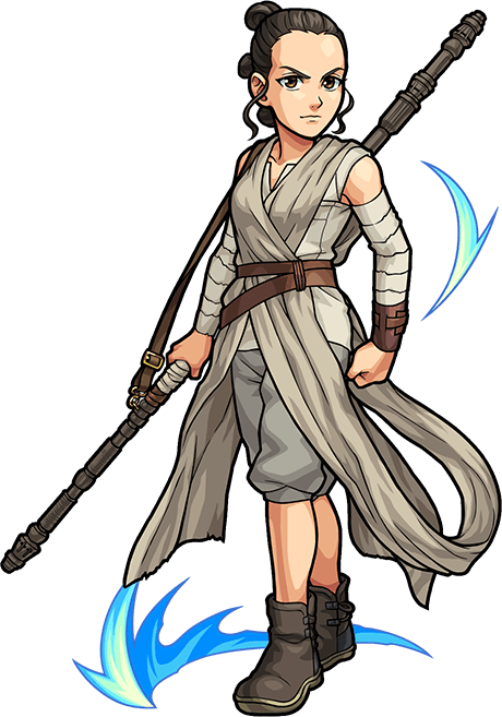 Rey star wars png transparent. Goes anime in a