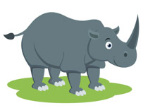 Rhino clipart. Free clip art pictures