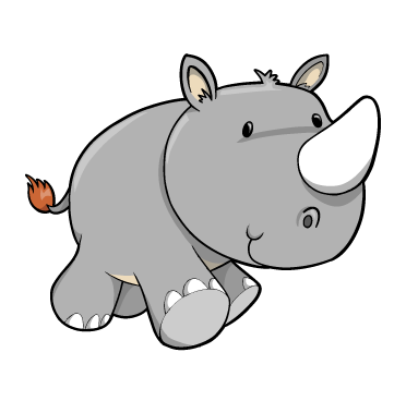 rhinos drawing cute