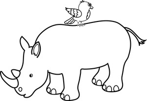 Rhino clipart real. Unique of black and