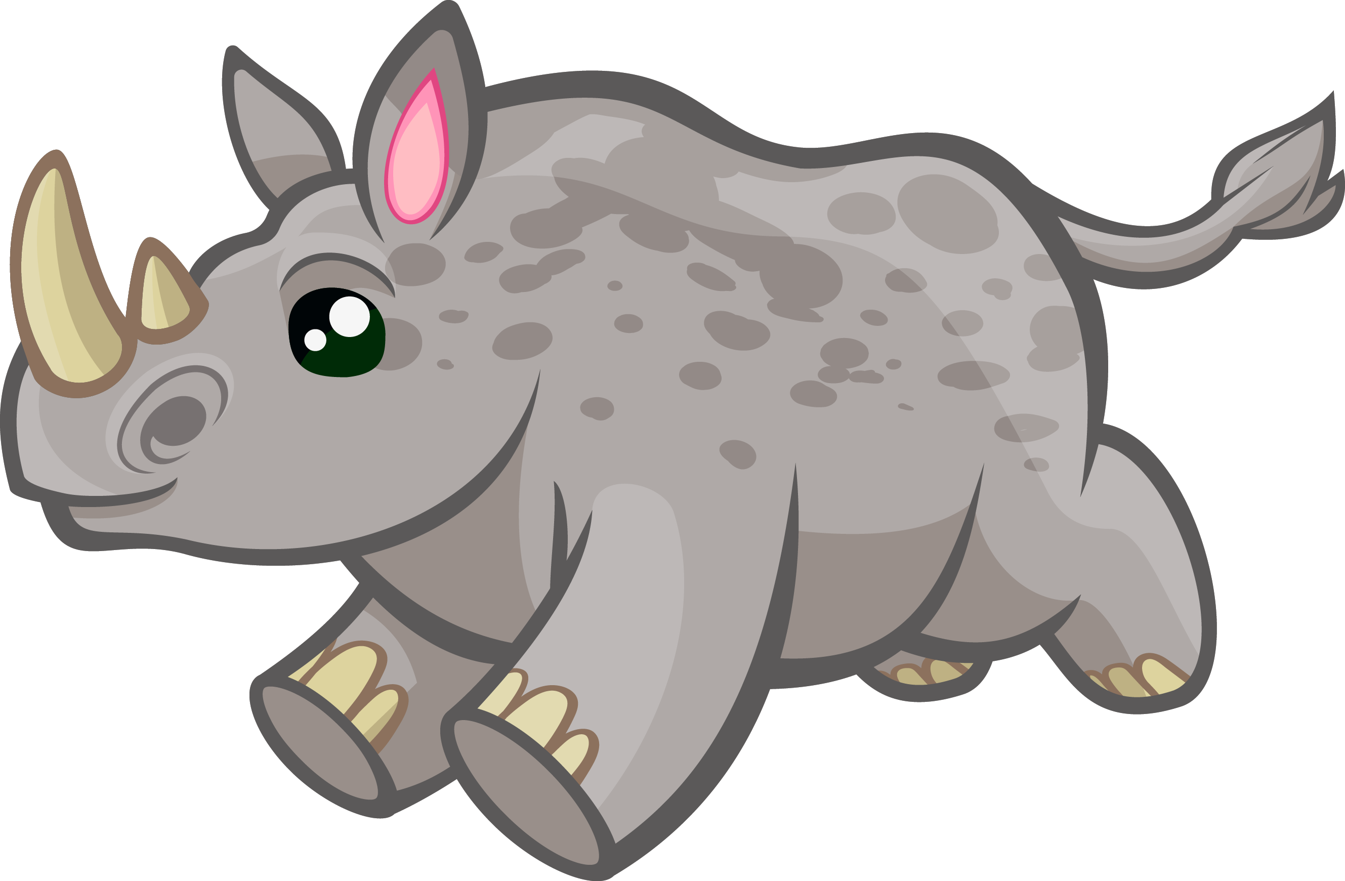 Rhino clipart real. Realistic pencil and in