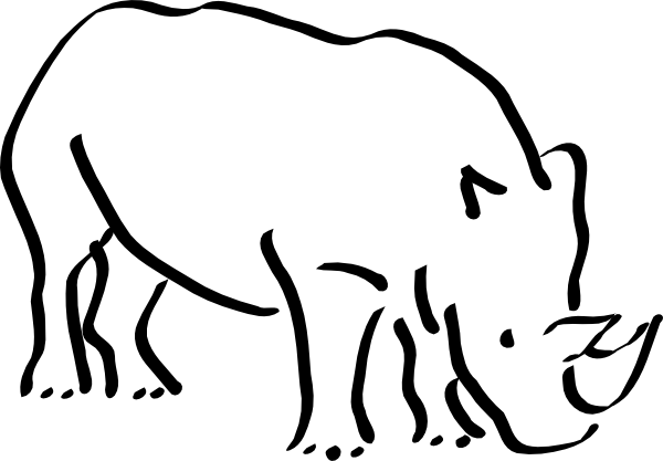 Rhinos drawing head. Rhino clip art at