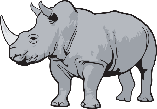 Rhinos drawing zoo animal. Http www clker com