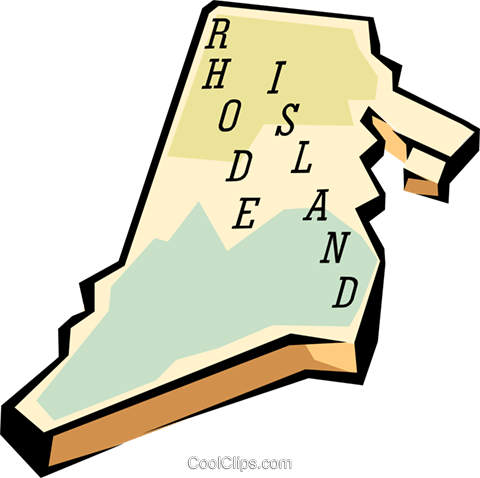 Rhode island. State map royalty free