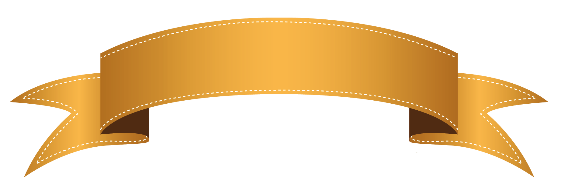 Ribbon banner clip art png. Orange transparent clipart paper