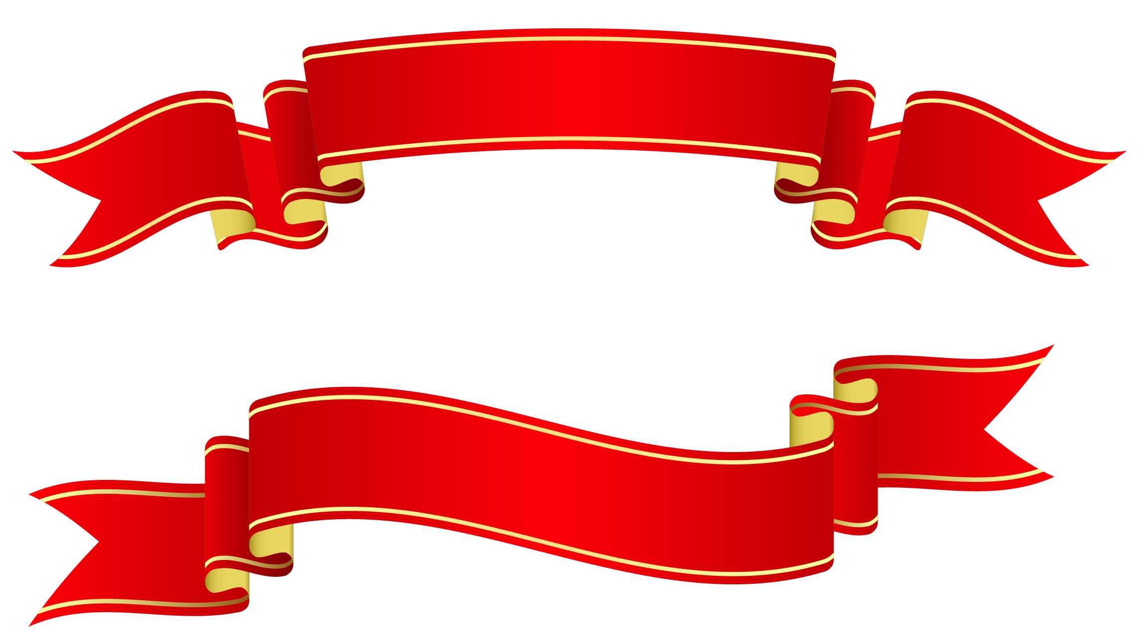 Ribbon banner clip art png. Red banners clipart picture