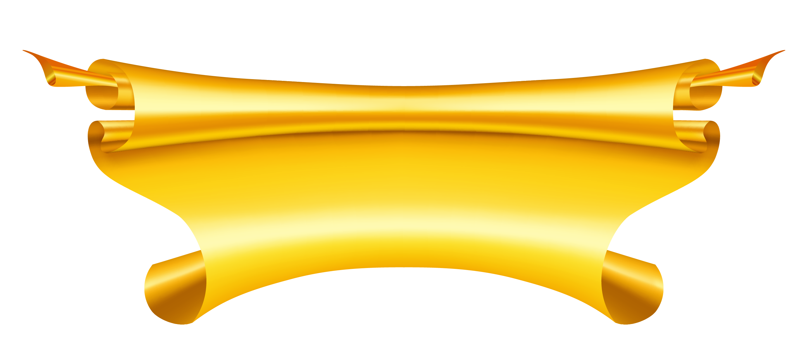 Golden ribbon png. Yellow banner clipart places