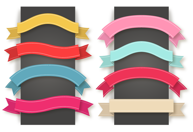 Ribbon banner vector png. Euclidean icon color material